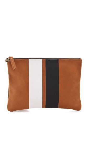 CLARE VIVIER Stripe Flat Clutch