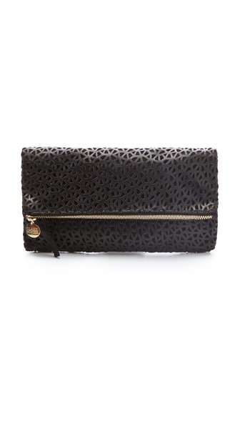 CLARE VIVIER Netting Fold Over Clutch
