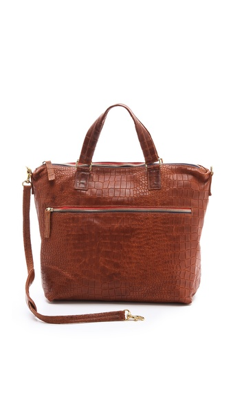 CLARE VIVIER Besace Embossed Bag