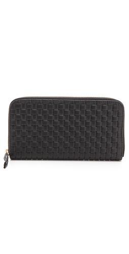 CLARE VIVIER Woven Zip Wallet