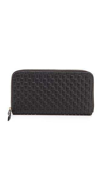 Clare V. Woven Zip Wallet