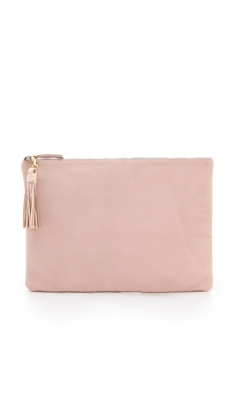 CLARE VIVIER Oversized Clutch with Tassels