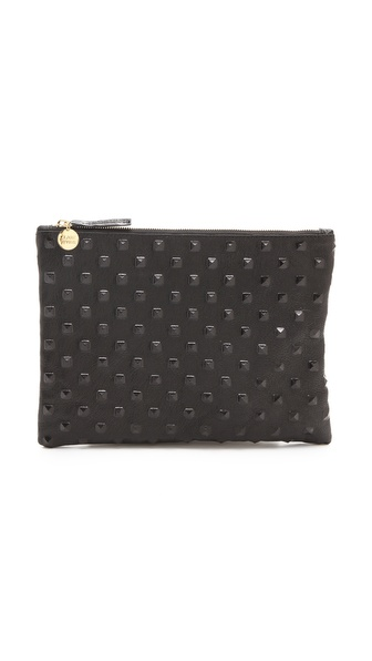 Clare V. Studded Flat Clutch