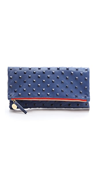 Clare V. Studded Fold Over Clutch