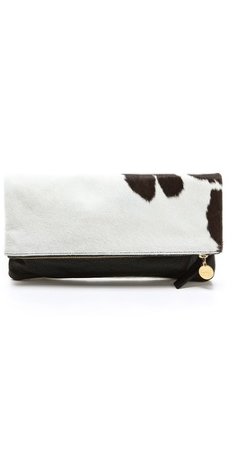 CLARE VIVIER Haircalf Fold Over Clutch at Shopbop / East Dane