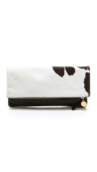 CLARE VIVIER Haircalf Fold Over Clutch