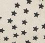 Creme Star Print