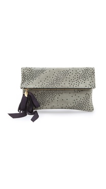 Clare V. Star Print Fold Over Clutch