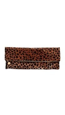 CLARE VIVIER Oversized Haircalf Clutch