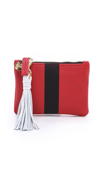 Clare V. Striped Coin Purse