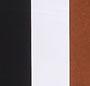 Cognac/Blk&Whte Str./White Tas