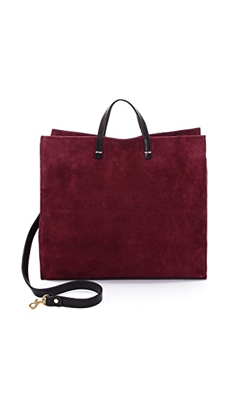 Clare V. Maison Suede Simple Tote
