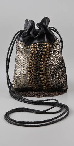Cleobella Chenoa Mini Beaded Drawstring Bag