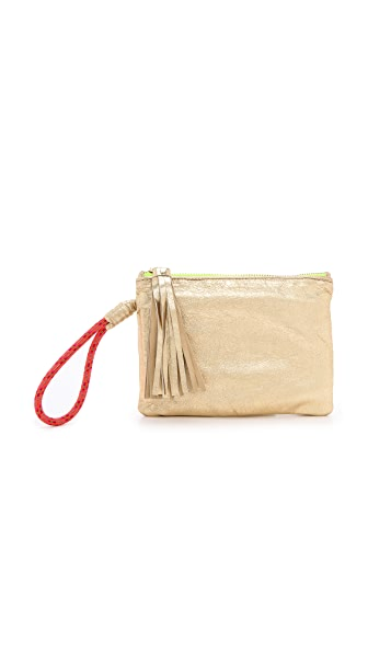 Cleobella Remy Metallic Clutch