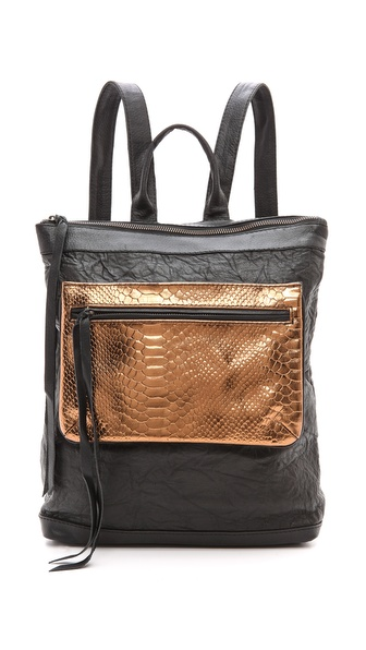 Cleobella Leena Backpack with Snake Pocket