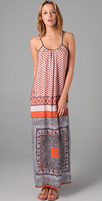 Clover Canyon Multi Print Maxi Dress