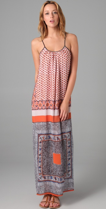 Clover Canyon Multi Print Maxi Dress