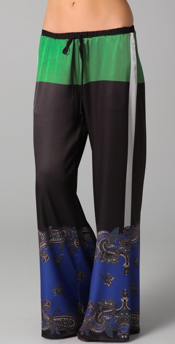 Clover Canyon Colorblock Paisley Pants