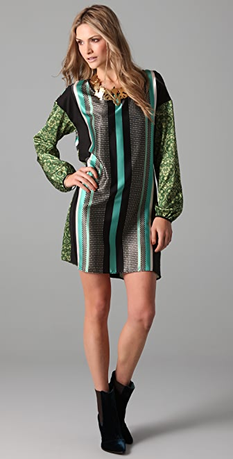 Clover Canyon Foulard Print Dress