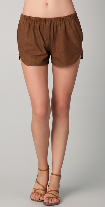 Clover Canyon Suede Shorts