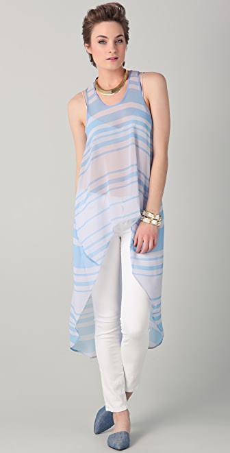 Clover Canyon Colored Striped Hi Low Tunic