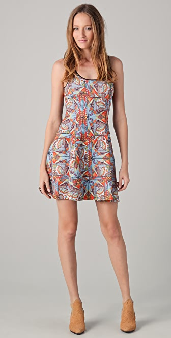 Clover Canyon Stained Glass Short Scuba Dress