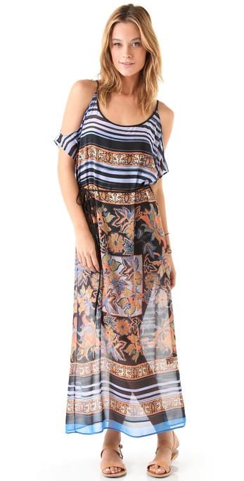 Clover Canyon Barcode Floral Maxi Dress