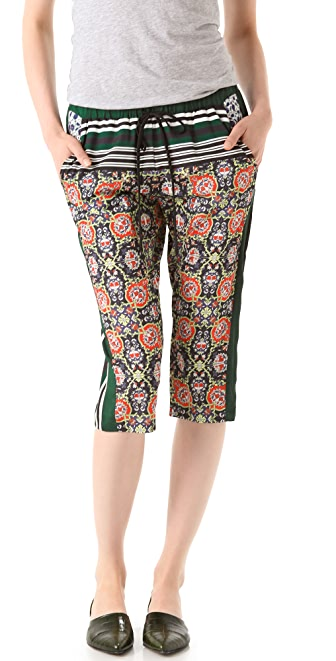 Clover Canyon Dutch Wallpaper Cropped Pants