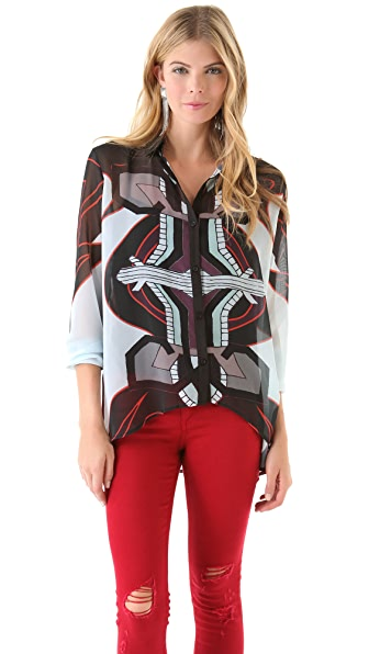 Clover Canyon Graphic Sunrise Blouse