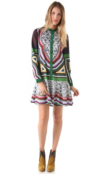 Clover Canyon Circle Diamond Shirtdress