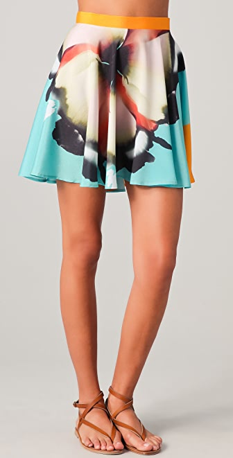 Clover Canyon X Ray Flower Print Skirt