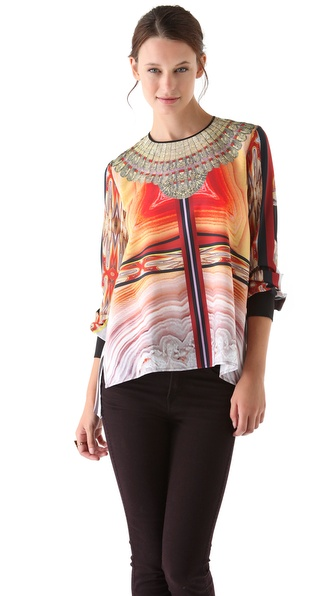 Clover Canyon Marble Necklace Blouse