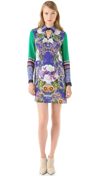 Clover Canyon Baroque Rose Scarf Shirtdress