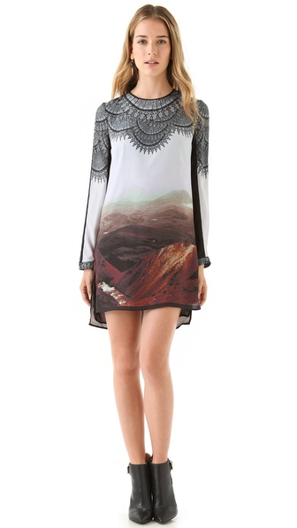 Clover Canyon Chantilly Landscape Shift Dress