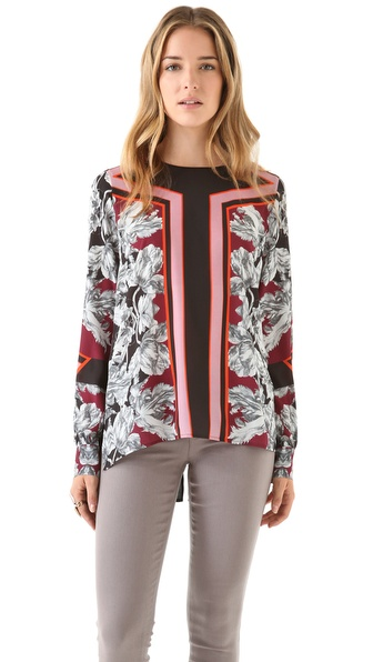 Clover Canyon Geometric Flower Blouse