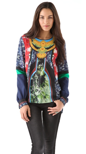 Clover Canyon Chinoiserie Necklace Blouse