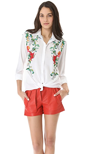 Clover Canyon Button Rhinestone Shirt