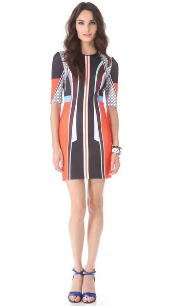 Clover Canyon Lotus Temple Neoprene Dress