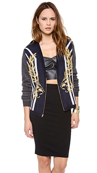 Clover Canyon Metallic Embroidered Cardigan