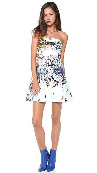 Clover Canyon Ski Garden Strapless Dress