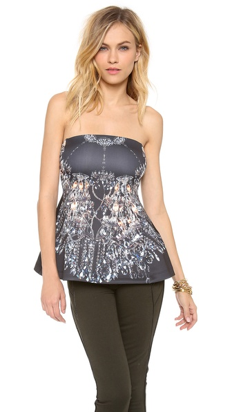 Clover Canyon Chandelier Strapless Top