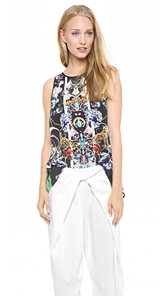 Clover Canyon Gold Panther Sleeveless Top
