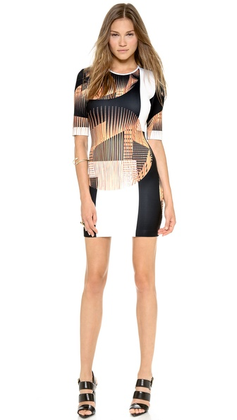 Clover Canyon Metal Orbs Pencil Dress