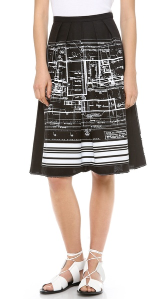 Clover Canyon Blueprint Skirt