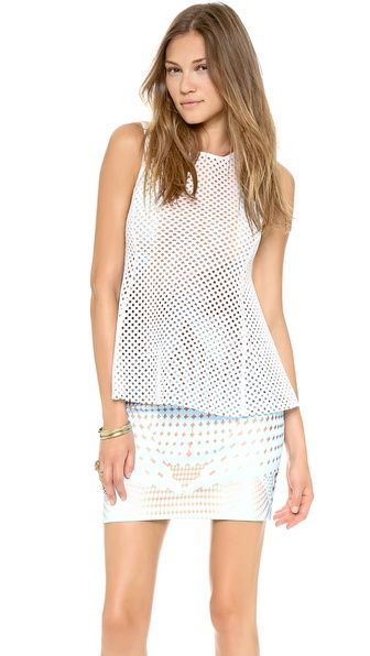 Clover Canyon Grid Neoprene Top