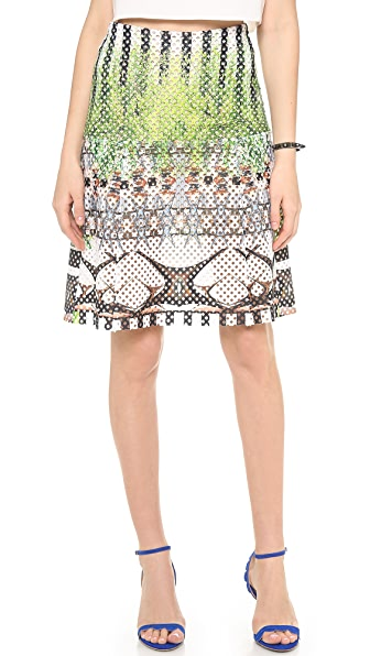 Clover Canyon Huntington Gardens Perforated Skirt