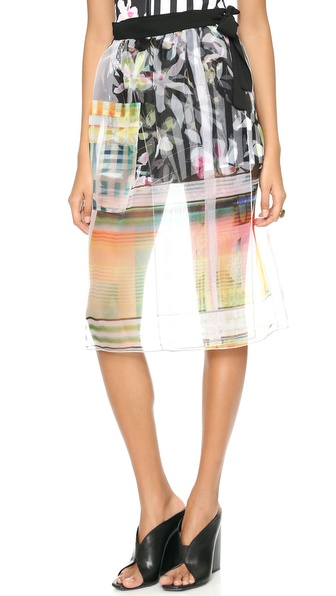Clover Canyon Garden Plaid Tie Waist Skirt