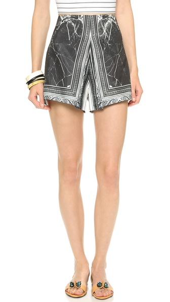 Clover Canyon Etched Marble Shorts