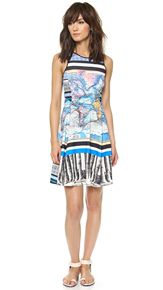Clover Canyon Ancient World Map Dress