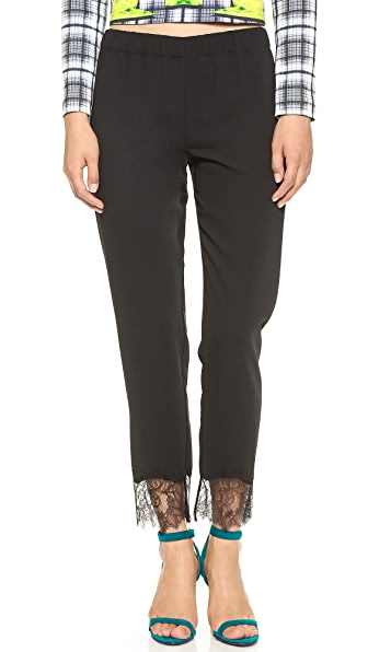 Clover Canyon Lace Hem Trousers